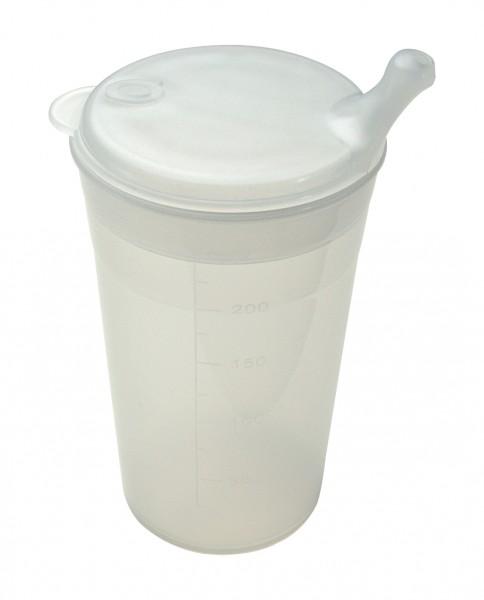 Sundo Trinkbecher mit Tee-Aufsatz, kurzes Mundstück, transparent - PZN 08023002.