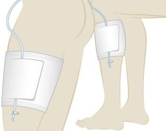Uromed Beinbeutelhalter für Urinbeutel und Beinbeutel.