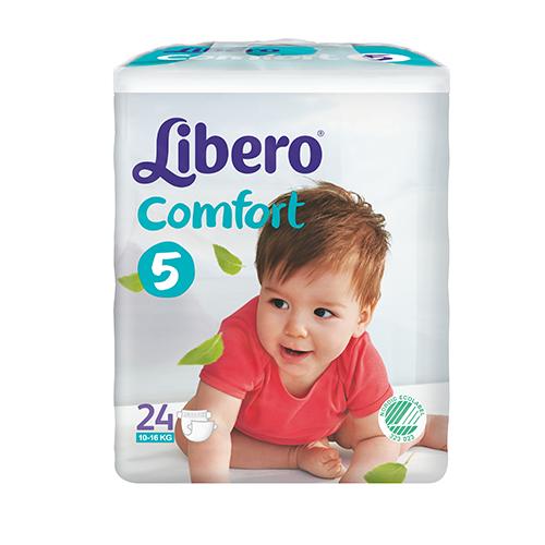 Tena Babywindeln Libero Comfort Maxi Plus Gr. 5 - (10-14 Kg). Saugstarke Babywindeln von Tena.