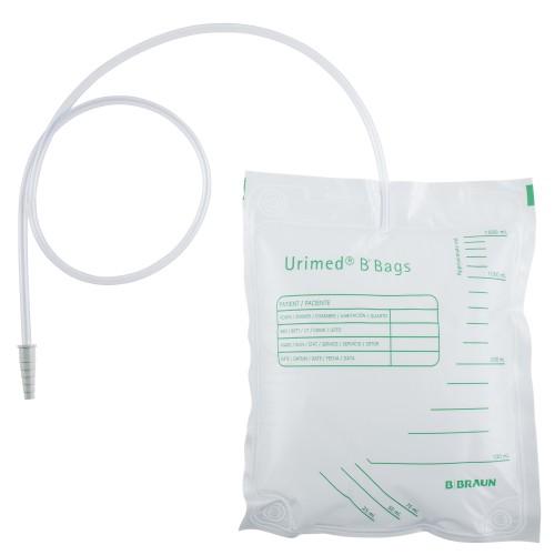 B. Braun unsteriler Sekret-/ Urinbeutel ohne Ablauf 1500 ml, 90 cm - Urinbeutel - PZN 11144802.