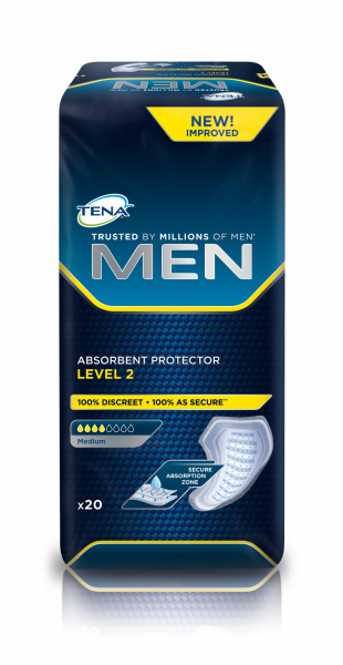 TENA Men Level 2 Inkontinenz-Einlagen für Männer.