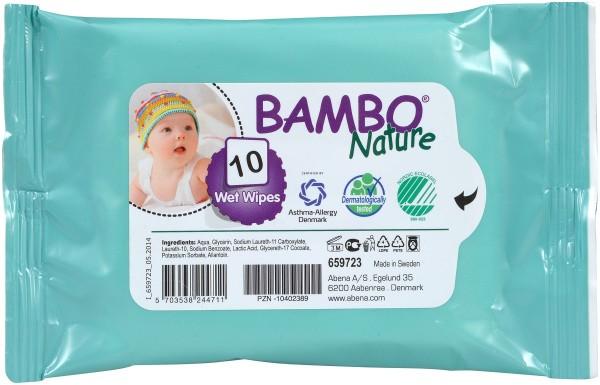 Abena Bambo Nature Feuchtpflegetücher - 16x20 cm