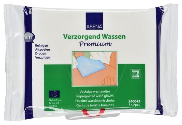 Abena Skincare - feuchte Waschhandschuhe Premium 8er - 15x22 cm