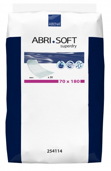 Abena Abri-Soft Superdry 70 x 180 cm - mit Flügeln - Krankenunterlage