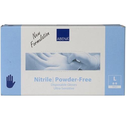Abena Ultra-Sensitive Nitrile Powder-Free Einmalhandschuhe Gr. Large
