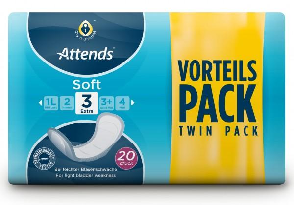 Attends Soft 3 Extra - Slipeinlagen für Frauen und Männer.