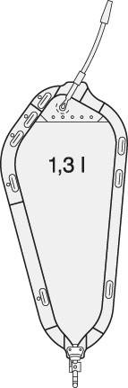 Manfred Sauer Rollibeutel, Schwenkhahn, glatter Adapter, 12 cm, 1300 ml, steril - Urinbeutel & Beinbeutel