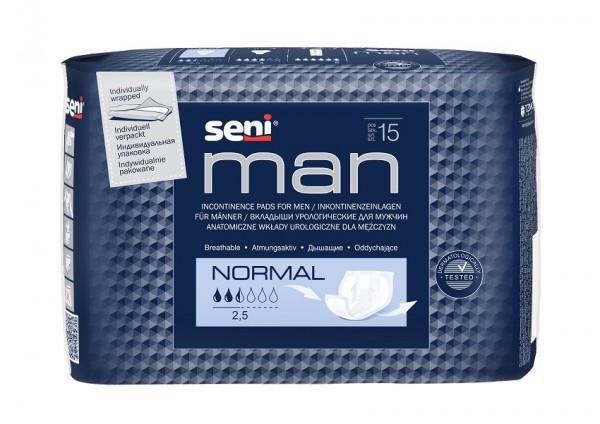 Seni Man Normal Inkontinenzeinlagen für Männer.