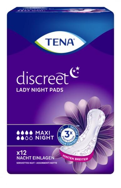 Tena Lady Maxi Night bei mittlere bis stärkere Blasenschwäche und Harndrang.