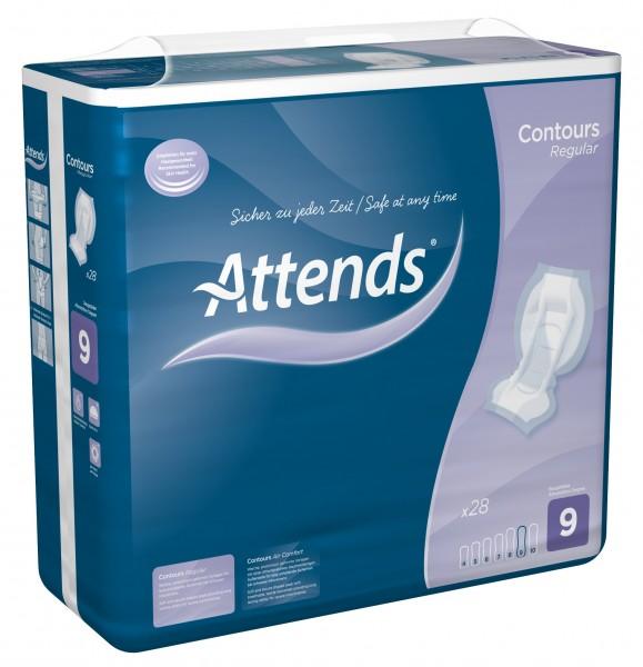 Attends Contours Regular 9 - bei sehr starker Inkontinenz und Blasenschwäche.