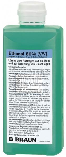 B.Braun Ethanol 80%, MEK (Butan-2-on).