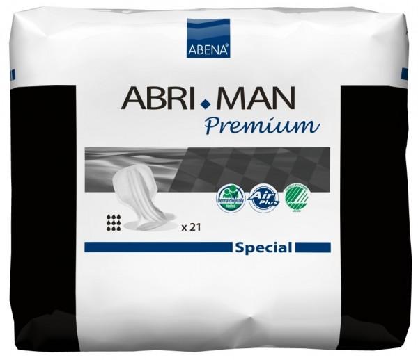Abena Abri-Man Premium Special Einlagen für Männer mit starker Inkontinenz.