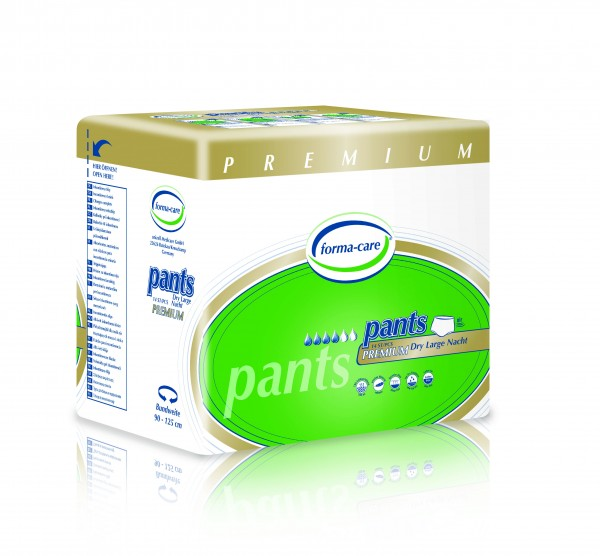 Forma-care Pants Premium Dry - Gr. Large / Nacht (L3) sind Windelhosen bei mittlerer bis schwerer Inkontinenz.