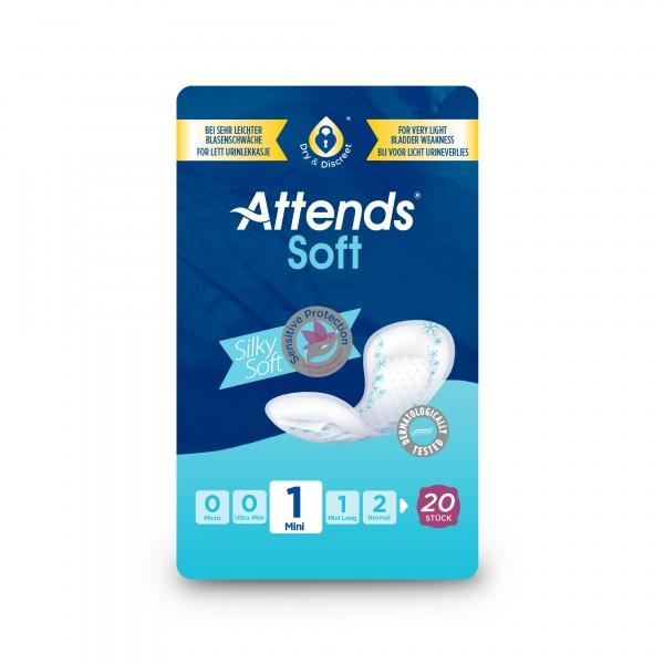 Attends Soft 1 Mini, Inkontinenz Hygiene-Einlagen, bei leichter Blasenschwäche.