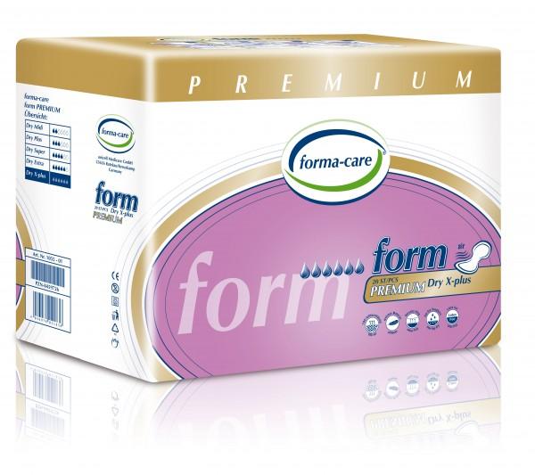 Forma-Care Form Premium Dry - X-Plus sind saugstarke Form-Vorlagen bei mittlerer bis schwerer Inkontinenz und Blasenschwäche.