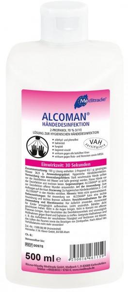 Alcoman Händedesinfektionsmittel - 500ml.