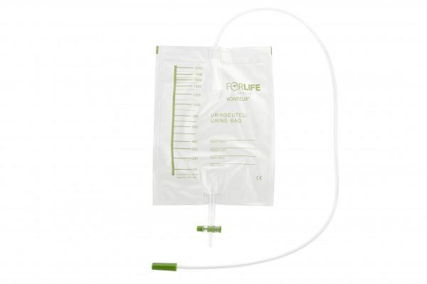 Forlife Konticur Bettbeutel mit Ablauf, 2000 ml, 110 cm, steril - PZN 13828019.