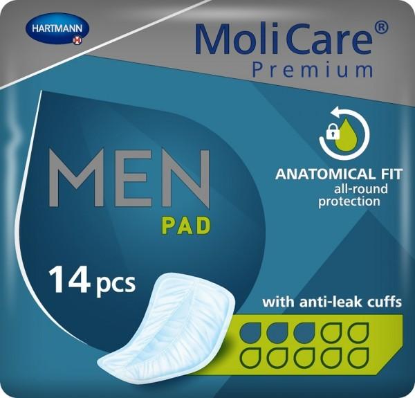 MoliCare Premium MEN PAD - 3 Tropfen - Inkontinenzeinlagen