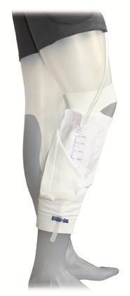 GHC Care Fix Unterschenkelstulpe Beinbeutel-Halterung. Unterschenkelstulpe mit integrierter Beinbeuteltasche