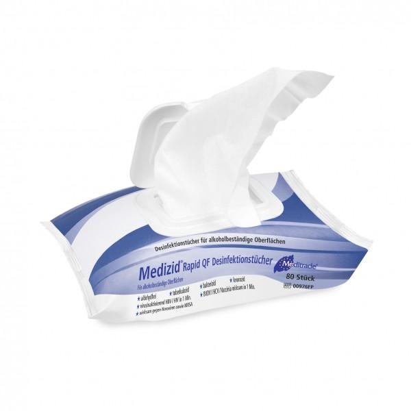 Meditrade Medizid® Rapid QF Desinfektionstücher - 1 Flowpack = 80 Stück