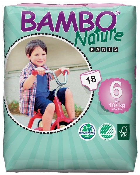 Abena Babywindeln Bambo Nature Training Pants XL-Plus 6 - (18+ Kg).