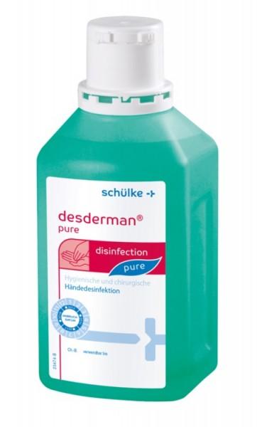 Schülke desderman® pure Händedesinfektion - 500 ml - Flasche, hyclick