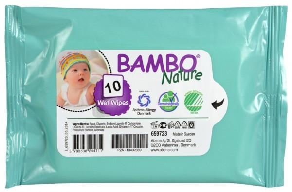 Abena Bambo Nature Feuchtpflegetücher - 16x19 cm - PZN 10402389