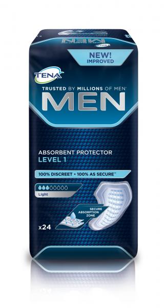 TENA MEN Level 1 sind Inkontinenz-Einlagen für Männer